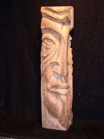Holzbüste, Scuklptur, Gesicht, Mann