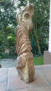 Schnitzkunst, Vogelskulptur, Skulptur, Vogel holzskulptur