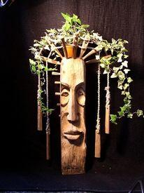 Eichen, Mann, Baum, Holzfigur