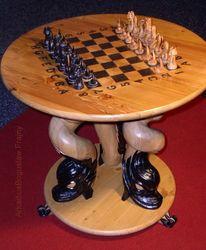 Schach, Schachfiguren, Schachbrett, Schachspieltisch