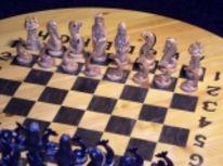 Schach, Engel skulptur, Schachbrett, Schachfiguren
