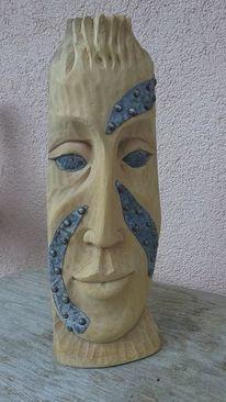 Büste, Schnitzkunst, Antike, Holzskulptur