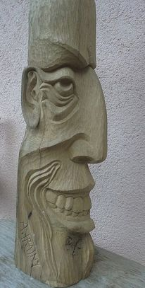 Büste, Holzfigur, Antike, Holzskulptur