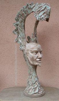 Skulptur, Gesicht, Lampe, Männergesicht