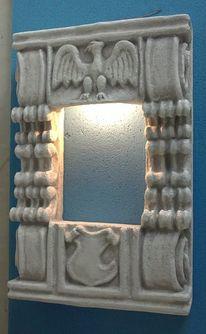 Wandleuchte, Lampe, Wandbeleuchtung, Relief