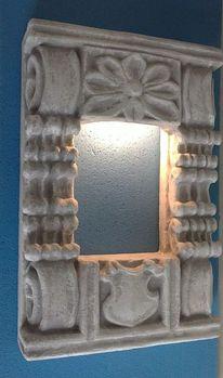 Wandlampe, Lampe, Schnitzkunst, Wandbeleuchtung