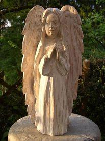 Plastik, Engel skulptur, Heilig, Frauengesicht
