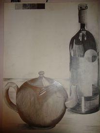 Schatten, Kanne, Flasche, Malerei