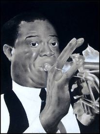 Smooth jazz, Louis armstrong, Gouachemalerei, New york city