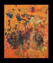 Orange, Ölmalerei, Universum, Impressionismus
