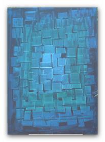 Malerei, Abstrakt, Jeans