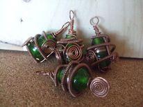 Kupfer, Glas, Grün, Design