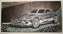 Auto, Malerei, Mercedes