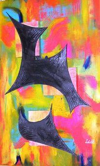 Chaos, Spitze, Abstrakt, Malerei