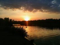 See, Sonnenuntergang, Landschaft, Fotografie