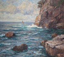Ölmalerei, Antik, Meer, Mittelmeer