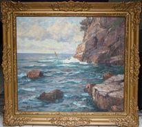 Wasser, See, Ölmalerei, Pinnwand