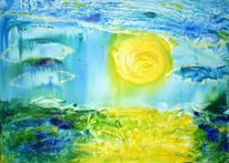 Zitronengleb, Malerei, Sonne, See