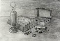 Kerzen, Schlüssel, Schatulle, Orden