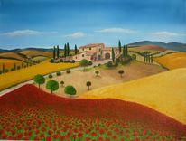 Toskana, Malerei, Villa