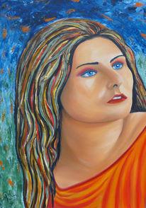 Erwartung, Portrait, Malerei,