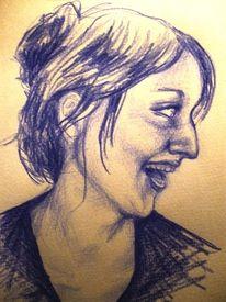 Lachen, Frau, Portrait, Zeichnungen