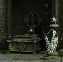 Kelten, 3d, Keltischer knoten, Grab
