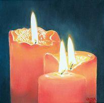Licht, Feuer, Kerzen, Malerei