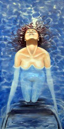 Frau, Wasser, Licht, Figural