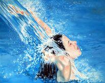 Genuss, Figural, Frau, Wasser