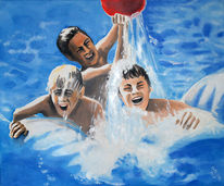 Schnappschuss, Wasser, Malerei, Mensch figurativ