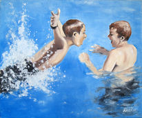 Wasser, Schnappschuss, Malerei, Mensch figurativ