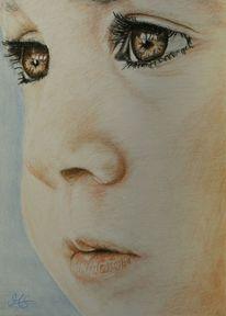 Zeichnung, Pastellmalerei, Portrait, Baby