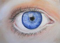Pastellmalerei, Portrait, Menschen, Augen