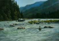 Angeln, Fluss, Natur, Tanne