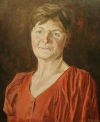 Frau, Gemälde, Ölmalerei, Porträtmalerei