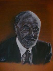 Portrait, Zeichnung, Kohlezeichnung, Zeichnungen