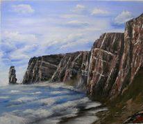 Wasser, Acrylmalerei, Gemälde, Klippe