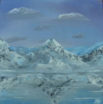 Landschaft, Peak, Berge, See