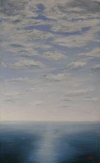 Landschaft, Wolken, Horizont, Malerei