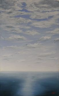 Landschaft, Meer, Schnell, Acrylmalerei