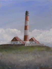 Malerei, Spiegelung, Leuchtturm, Landschaft