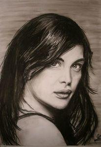Portrait, Menschen, Zeichnung, Pastellmalerei