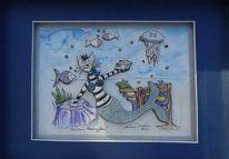 Fisch, Die kleine meerjungfrau, Perlen, 3d