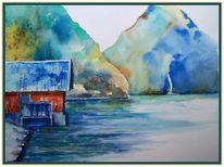 Walchensee, Herbst, Wasser, Hütte