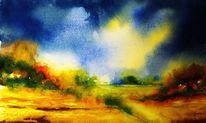 Farben, Landschaft, Gewitter, Licht