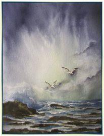 Licht, Welle, Brandung, Küste
