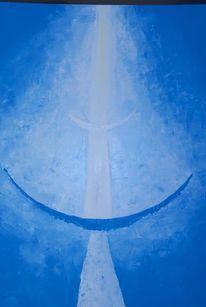 Blau, Spirituell, Nach hause gehen, Ölmalerei