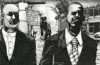 Obama, Schwarz weiß, Karzai, Gesicht