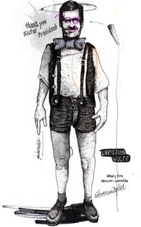 Wulff, Portrait, Zeichnungen,
